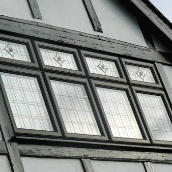 Black uPVC casement window