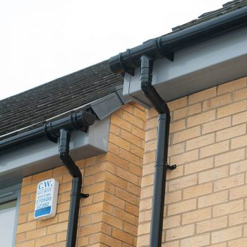 Black uPVC guttering and roofline