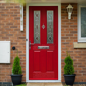 Poppy red composite door