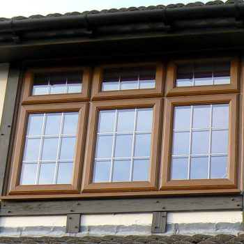 Golden Oak casement window