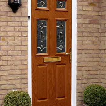 Golden oak composite door