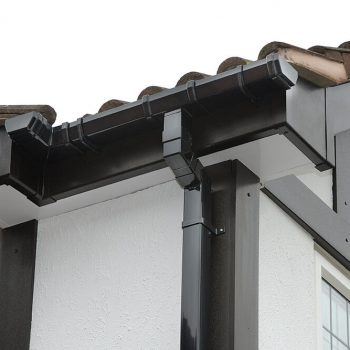 Black and grey uPVC guttering and roofline