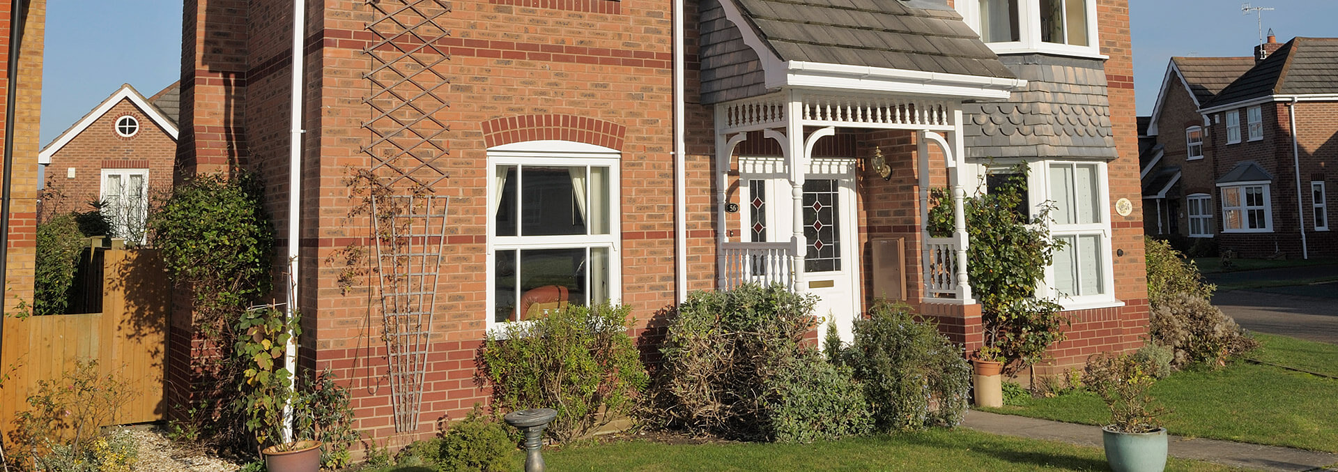 Mock sash white uPVC windows