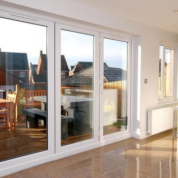 Closed White uPVC bifold door