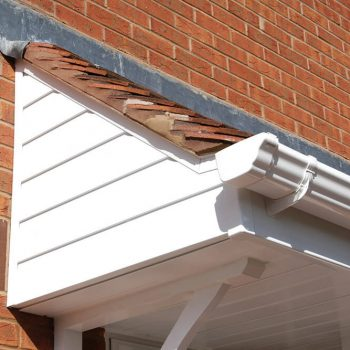 White uPVC guttering and cladding