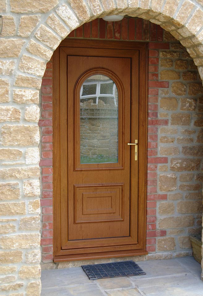 Upvc doors smiths glass for Brown upvc door