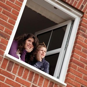 White uPVC window with tilt and turn functionality