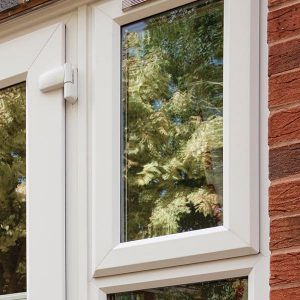 A double glazed uPVC window