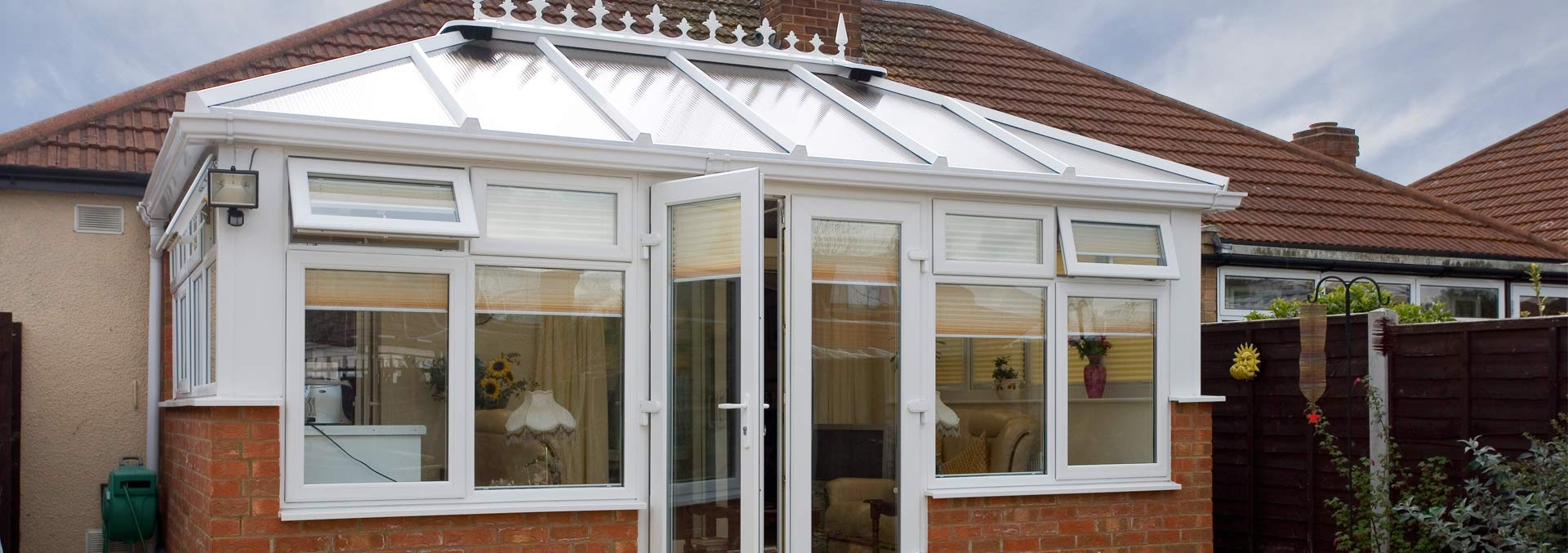 Edwardian conservatory in white