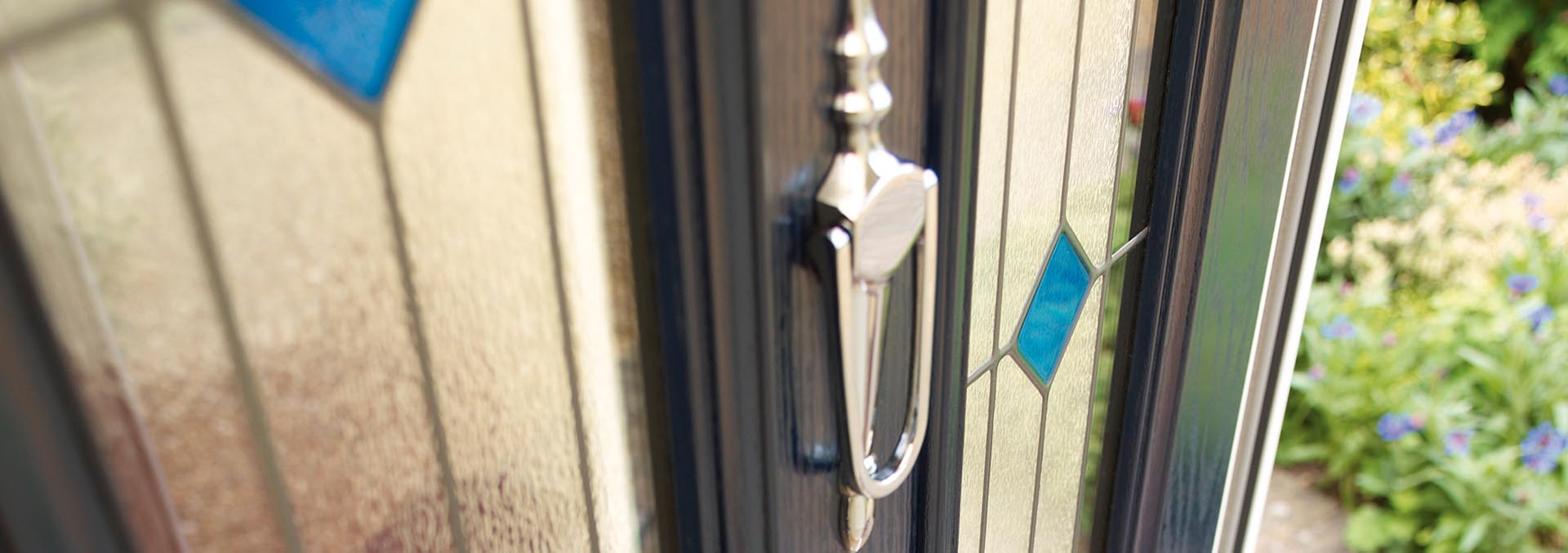 Close up of one of our composite doors