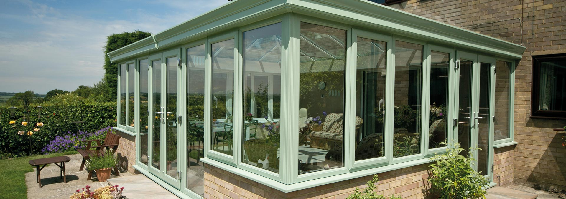 Green glazed conservatory