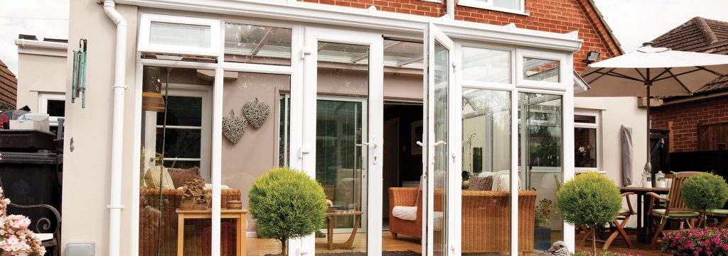 Small lean-to uPVC conservatory