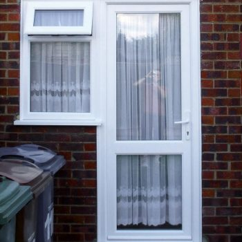 Replacement uPVC entrance door in white