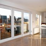 White sliding patio doors in uPVC