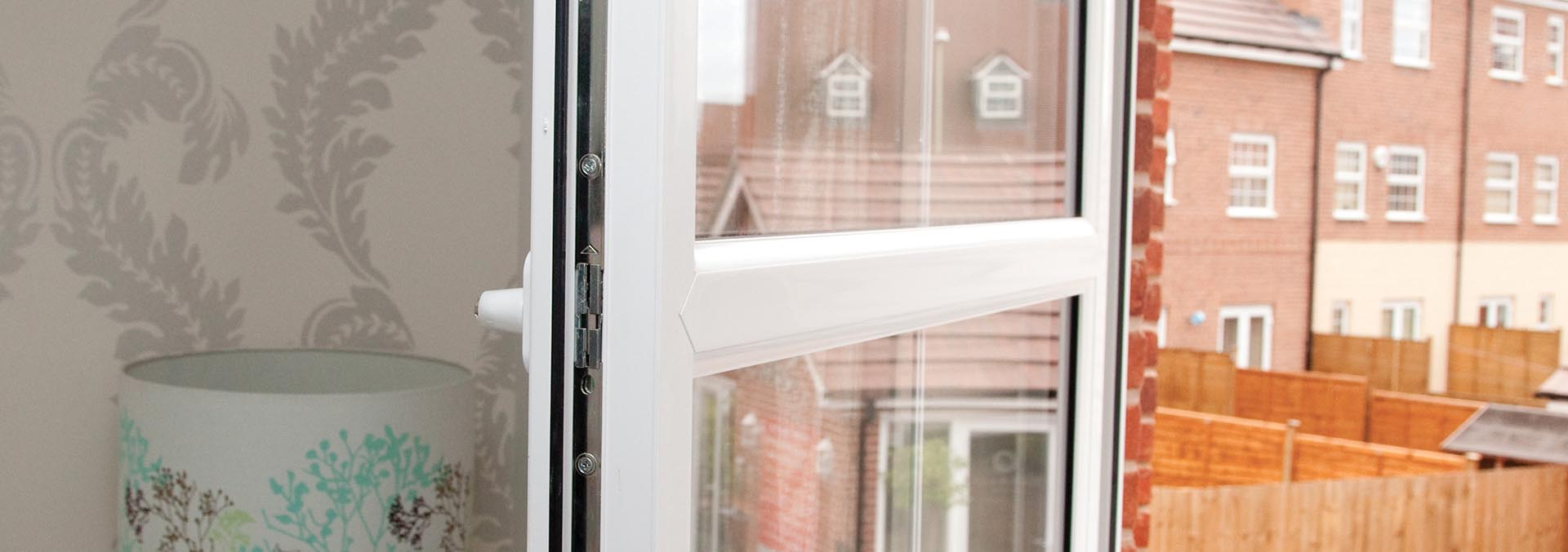 Tilt and Turn window in white uPVC