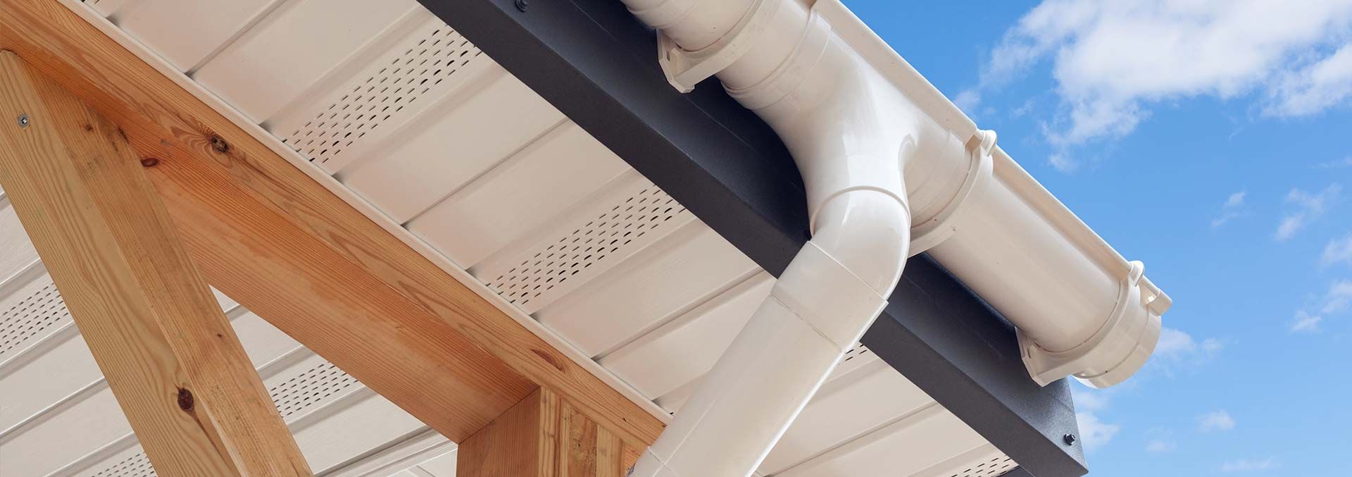 White uPVC roofline and guttering