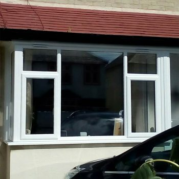 White replacement uPVC windows