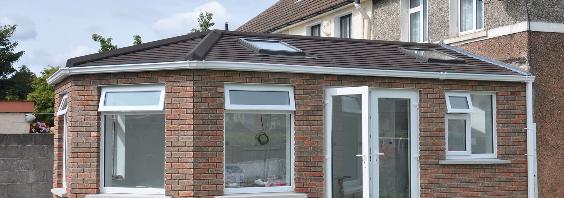 Tiled warm roof conservatory
